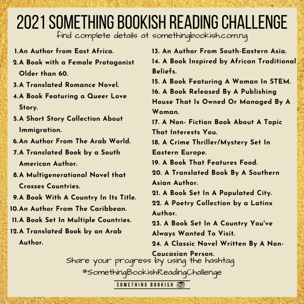 2021 Something Bookish Reading Challenge